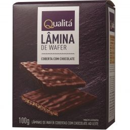 Lâmina de wafer coberta de chocolate